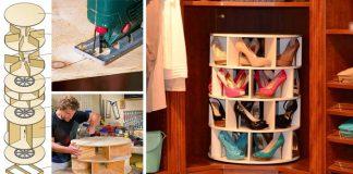 Kreatívne úložné riešenie na topánky | DIY nápad a návod na Lazy Susan