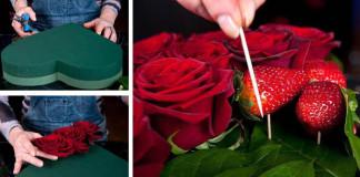 Valentínske prekvapenie | Návod na srdce z ruží a jahôd