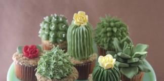 Cupcakes ktoré vyzerajú ako skutočné kaktusy