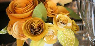 Kvety z papiera vytvorené vlastnými rukami rolovaním | Návod urob si sám
