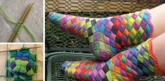 Pestrofarebné ponožky pletené technikou enterlac | Návod ako postupovať