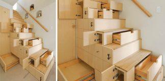 Schodisko s množstvom úložných priestorov | Kreatívny nápad do domu