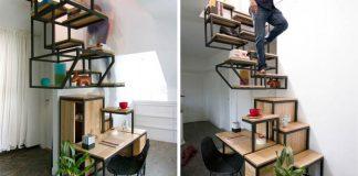 Schodisko, úložný priestor a stôl v jednom | Object Élevé od Mieke Meijer