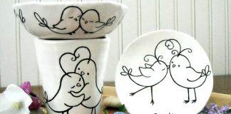 Porcelánové hrnčeky a taniere podľa vlastnej fantázie | DIY nápady