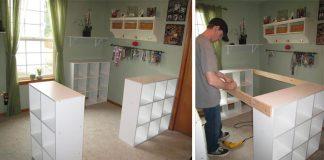 Priestranný pracovný stôl | Kreatívny nápad a návod na DIY nábytok
