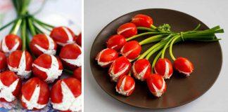 Recept na umenie: Jedlá kytička tulipánov | Tulipánový šalát