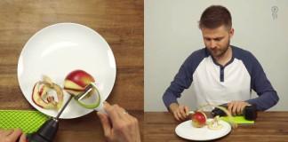 Ako ošúpať kilo jabĺk v priebehu pár sekúnd pomocou skrutkovača