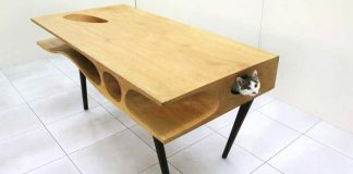 CATable: Stôl, ktorý umožní mačkám hrať sa, zatiaľ čo vy pracujete