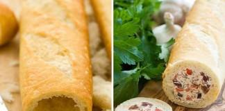 Plnená bageta   Recept na chutné predjedlo, ktoré si zamilujete