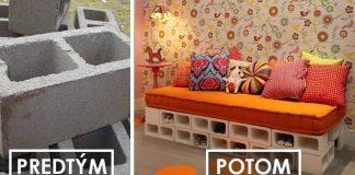 Sedačka z betónových tvárnic s úložným priestorom | DIY nápad
