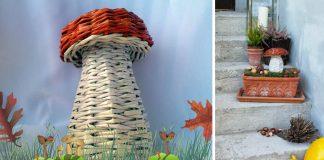 Hríb pletený z papiera | DIY návod na pletenie z papierových ruličiek