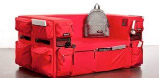 Eastpak pohovka s úložným priestorom - vreckami ako na batohu
