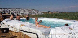 Bazén zo slamy alebo návod ako relaxovať po vidiecky