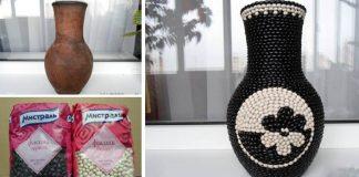 Fazuľová váza | Kreatívny nápad a návod, ako ozdobiť vázu fazuľou