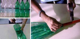 Metla z plastovej fľaše | Kreatívny DIY nápad s návodom čo s PET fľašou