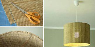 Tienidlo z bambusovej podložky | Kreatívny nápad na tienidlo v eko-dizajne