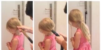 Ocino dáva dcérke vlasy do copu pomocou vysávača | To je nápad!