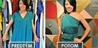 Nevkusné second-hand oblečenie mení na elegantné šaty | DIY nápady