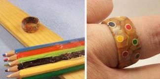Prsteň z farbičiek | DIY nápad s návodom ako vyrobiť farbičkový prsteň