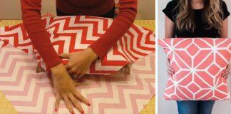 Nešitá obliečka na vankúš, ktorú nemusíte šiť | DIY návod | kreativita.info