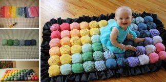 Bublinkový koberček pre deti | DIY návod na koberec zo zvyšných látok