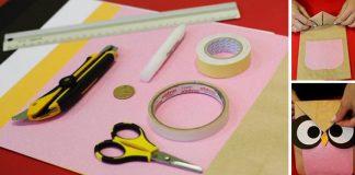Desiatové vrecko so sovím motívom pre deti na desiatu | DIY nápad návod