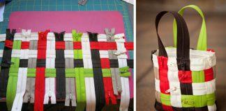 Kabelka zo zipsov | Nápad na netradičnú mini kabelku vyrobenú zo zipsov