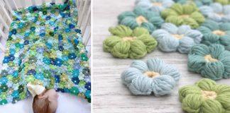 Háčkovaná kvetinová prikrývka | DIY nápad a návod na deky pre deti