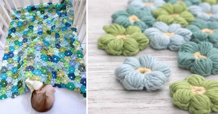 b81798181 Háčkovaná kvetinová prikrývka | DIY nápad a návod na deky pre deti