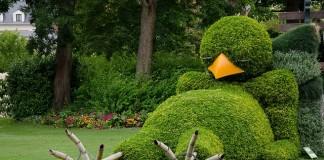 Záhradné umenie: Rozkošné spiace vtáča | kreativita.info