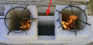 Varič z betónových tvárnic | Nápady ako premeniť tvárnice na varič