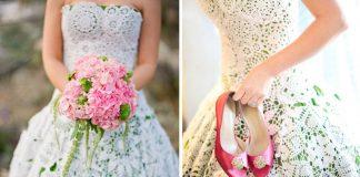 Háčkované šaty na svadbu | Nápady na šaty pre nevesty či družičky