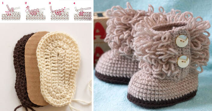 8f3a5b3e743a0 Háčkované UGG topánočky pre bábätká a deti | DIY návody ako na to