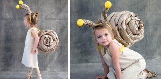 Detský kostým slimáka na karneval | Kreatívny DIY nápad a návod
