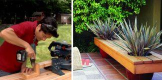 Kvetináčová lavička | DIY nápad s návodom na moderný vonkajší nábytok