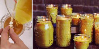 Sviečky zo včelieho vosku | Návod na sviečky v zaváraninových pohároch