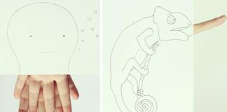 Kresby zvierat dokončené pomocou prstov | Javier Perez