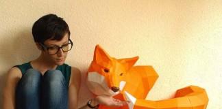 Geometrické sochy zvierat z papiera | Wolfram Kampffmeyer
