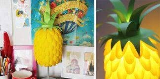 Lampa s motívom ananásu | DIY nápad a návod na ananásovú lampu