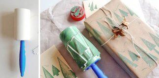 Čistiaci valček na zdobenie vianočných pozdravov | DIY nápad a návod
