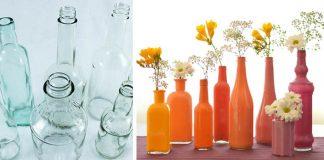 Dekoračné vázy zo sklenených fliaš | Návod, ako premeniť sklenené fľaše