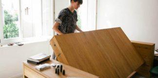 Posteľ a stôl v jednom | Nápad na nábytok šetriaci miesto