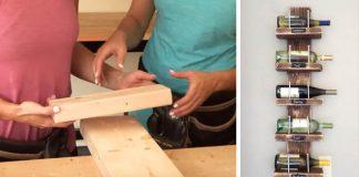 Návod, ako si vlastnými rukami zhotoviť praktický nástenný stojan na víno