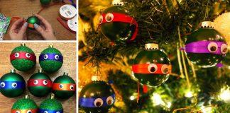 Ninja korytnačky ako vianočné ozdoby na stromček   Vianočné nápady