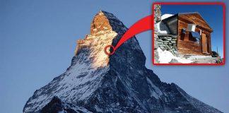 Chatka nad oblakmi Matterhornu | Alpy