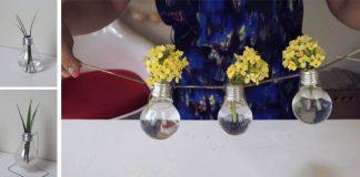 Váza zo žiarovky | DIY nápady a návody ako premeniť žiarovky na vázy
