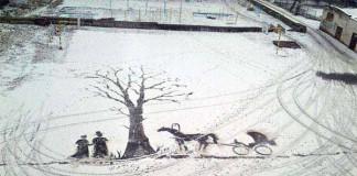 Snežné umenie školníka Seymon Bukharin