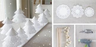 Dekoračné vianočné stromčeky z papierových obrúskov | DIY návod