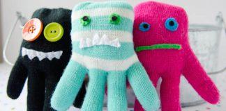 Príšerky z rukavíc | Handmade hračky pre deti vyrobené zo starých rukavíc