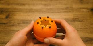 Sviečka z pomarančovej kôry